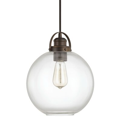 Caster 1-Light Globe Mini Pendant Finish: Burnished Bronze