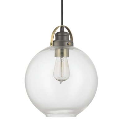 Caster 1-Light Globe Mini Pendant Finish: Graphite with Aged Brass