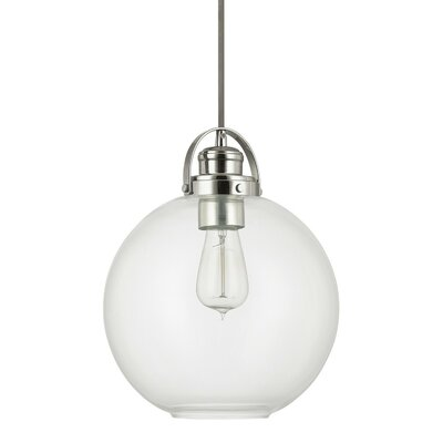 Caster 1-Light Globe Mini Pendant Finish: Polished Nickel