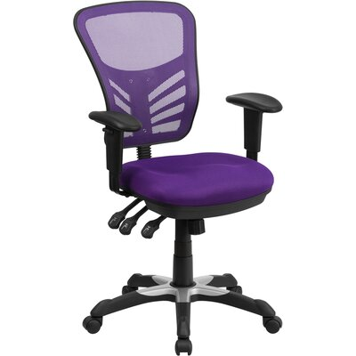 Castillon Mid-Back Mesh Desk Chair Upholstery: Purple