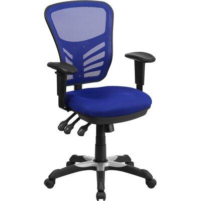 Castillon Mid-Back Mesh Desk Chair Upholstery: Blue