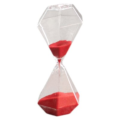 Octagonal Sand Hourglass Color: Red
