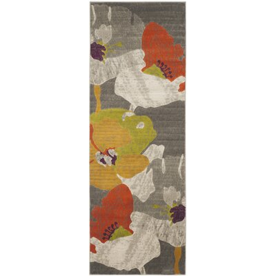 Bleecker Dark Grey / Ivory Area Rug Rug Size: Runner 24 x 11
