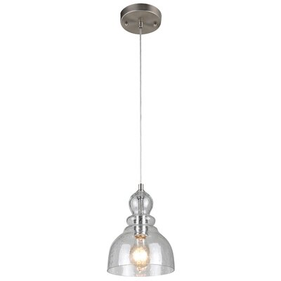 Kaitlynn 1-Light Mini Pendant Finish: Brushed Nickel