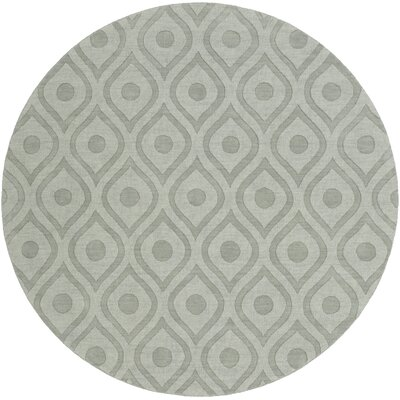 Castro Hand Woven Wool Blue-Gray Area Rug Rug Size: Round 79