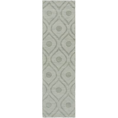 Castro Hand Woven Wool Blue-Gray Area Rug Rug Size: Runner 23 x 10