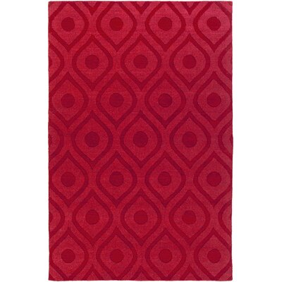 Castro Hand Woven Wool Red Area Rug Rug Size: Rectangle 4 x 6