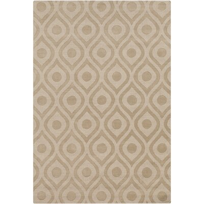Castro Hand Woven Wool Beige Area Rug Rug Size: Rectangle 9 x 12