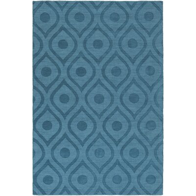 Castro Hand Woven Wool Teal Area Rug Rug Size: Rectangle 8 x 10