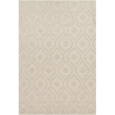 Castro Hand Woven Wool Beige Area Rug Rug Size: Rectangle 5 x 76