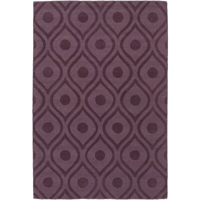 Castro Hand Woven Wool Purple Area Rug Rug Size: Rectangle 5 x 76