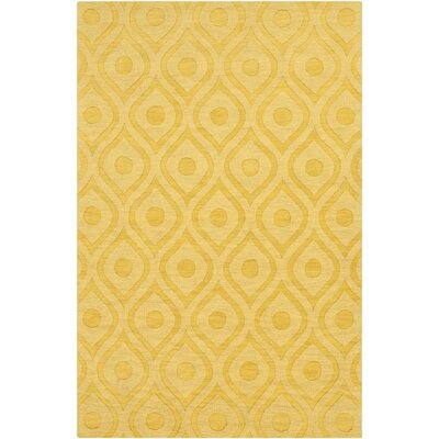 Castro Hand Woven Wool Yellow Area Rug Rug Size: Rectangle 6 x 9