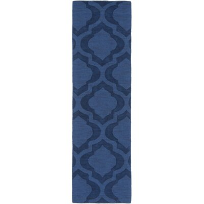 Castro Hand Woven Wool Navy Area Rug Rug Size: Runner 23 x 12