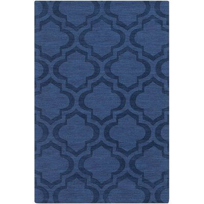 Castro Hand Woven Wool Navy Area Rug Rug Size: Rectangle 4 x 6