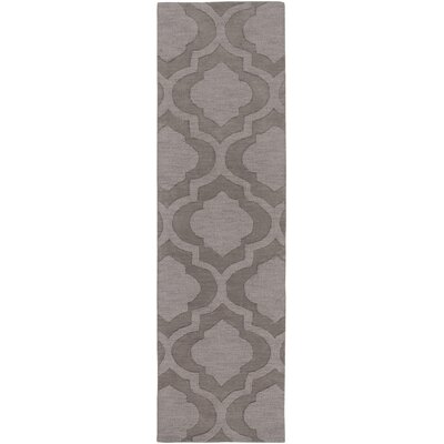 Castro Hand Woven Wool Charcoal Area Rug Rug Size: Runner 23 x 10