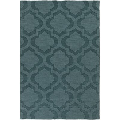 Castro Hand Woven Wool Teal Area Rug Rug Size: Rectangle 6 x 9