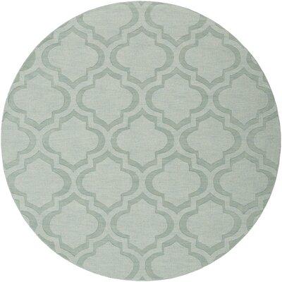 Castro Blue Geometric Zara Area Rug Rug Size: Round 6