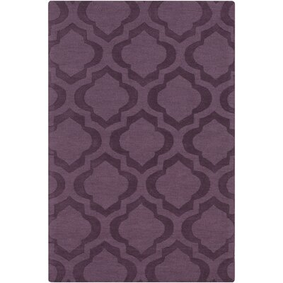 Castro Hand Woven Wool Purple Area Rug Rug Size: Rectangle 6 x 9