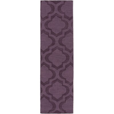Castro Hand Woven Wool Purple Area Rug Rug Size: Runner 23 x 12
