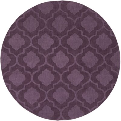 Castro Purple Geometric Kate Area Rug Rug Size: Round 6