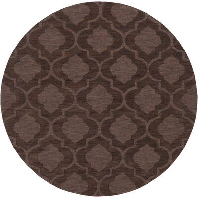 Castro Brown Geometric Kate Area Rug Rug Size: Round 6