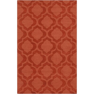 Castro Hand Woven Wool Orange Area Rug Rug Size: Rectangle 4 x 6