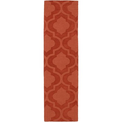Castro Hand Woven Wool Orange Area Rug Rug Size: Runner 23 x 14