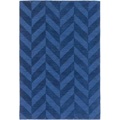 Castro Hand Woven Wool Navy Area Rug Rug Size: Rectangle 9 x 12