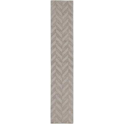 Castro Hand Woven Wool Gray Area Rug Rug Size: Runner 23 x 12