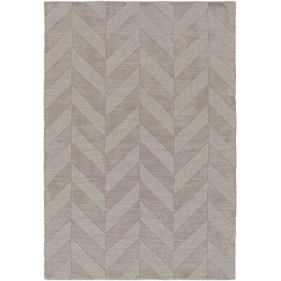 Castro Hand Woven Wool Gray Area Rug Rug Size: Rectangle 5 x 76