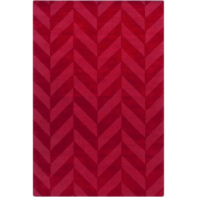 Castro Red Chevron Carrie Area Rug Rug Size: 8 x 10