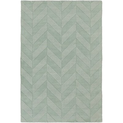Castro Hand Woven Wool Teal Area Rug Rug Size: Rectangle 9 x 12