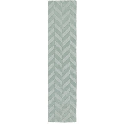 Castro Hand Woven Wool Teal Area Rug Rug Size: Runner 23 x 14