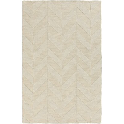 Castro Hand-Woven Wool Ivory Area Rug Rug Size: Rectangle 3 x 5