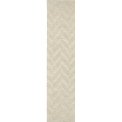 Castro Hand-Woven Wool Ivory Area Rug Rug Size: Runner 23 x 8