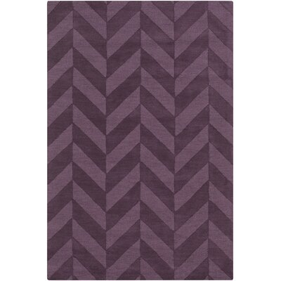 Castro Hand Woven Wool Purple Area Rug Rug Size: Runner 23 x 14