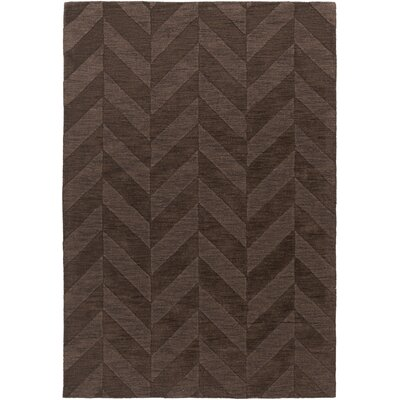Castro Hand Woven Wool Brown Area Rug Rug Size: Rectangle 5 x 76