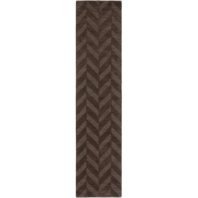 Castro Hand Woven Wool Brown Area Rug Rug Size: Runner 23 x 12