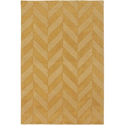 Castro Yellow Chevron Carrie Area Rug Rug Size: Rectangle 5 x 76