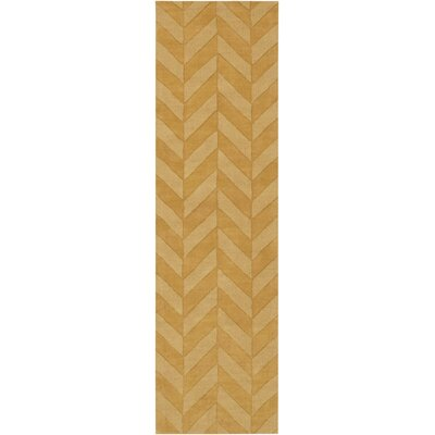 Castro Yellow Chevron Carrie Area Rug Rug Size: Runner 23 x 12