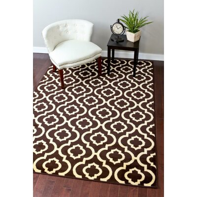 Catalan Brown Indoor/Outdoor Area Rug Rug Size: 5 x 7