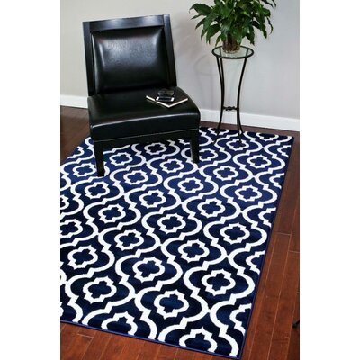 Catalan Navy Indoor/Outdoor Area Rug Rug Size: 2 x 3