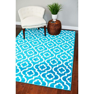 Catalan Turquoise Indoor/Outdoor Area Rug Rug Size: 5' x 7'