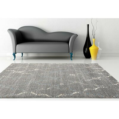 Catalan Gray Indoor/Outdoor Area Rug Rug Size: 5'2