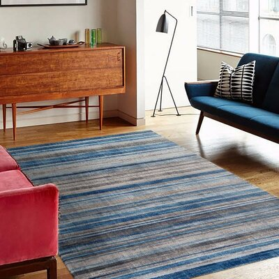 Catalan Blue/Gray Indoor/Outdoor Area Rug Rug Size: 2' x 3'