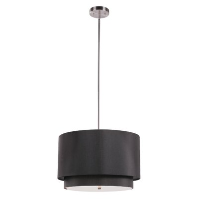 Cataldo 3-Light Drum Pendant Finish: Black