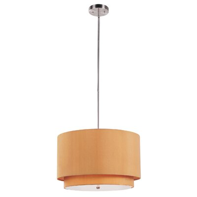 Cataldo 3-Light Drum Pendant Finish: Mustard
