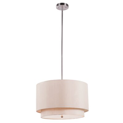 Cataldo 3-Light Drum Pendant Finish: Taupe
