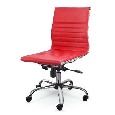 Catchings Leather Desk Chair Upholstery: Red