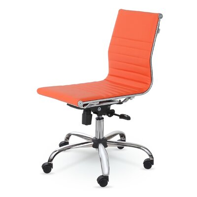 Catchings Leather Desk Chair Upholstery: Orange